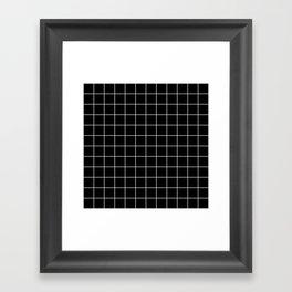 Grid Simple Line Black Minimalistic Framed Art Print