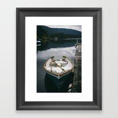 Lake + Boat Framed Art Print