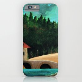 Le Moulin, Paris, France by Henri Rousseau iPhone Case