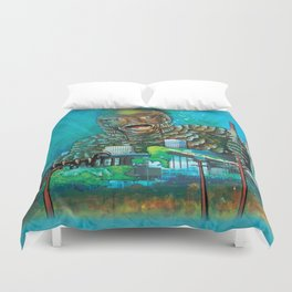 MILWAUKEE: It Came From Lake Michigan Duvet Cover