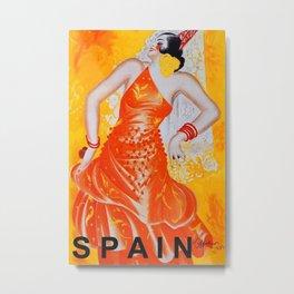 Spain Vintage Travel Ad Metal Print