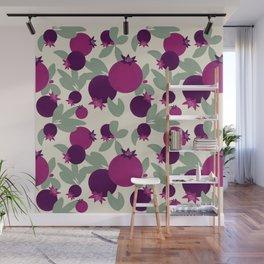 Pomegranate pattern Wall Mural