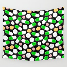 Deadly Pills Pattern Wall Tapestry
