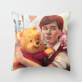 The boy and his friend  Throw Pillow