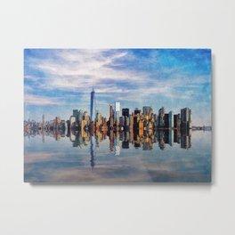 New York Reflections Metal Print
