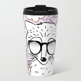 Raccoon in a Garden Travel Mug