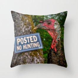 Smart Bird Throw Pillow