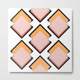 Spring Tiles Metal Print