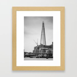 The Shard B&W Framed Art Print