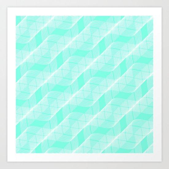 Mint Helix Art Print