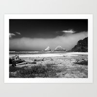 Rocks at Heceta Head Art Print