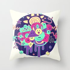 Happydoodle Throw Pillow