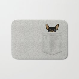 Pocket Chihuahua - Black Bath Mat