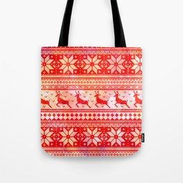 Reindeer Sweater Color Option Tote Bag