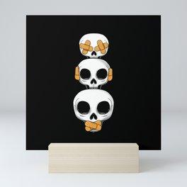 Cute Skulls No Evil II Mini Art Print