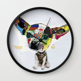 Chihuahua Colorful Dog POP Art Collage Wall Clock