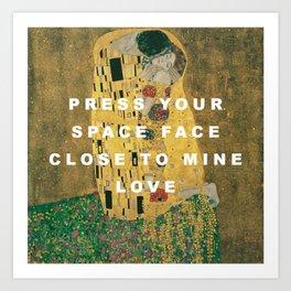 Moonage Kiss Art Print