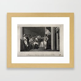 Napoleon Bonaparte's interview with the astronomer at Milan Framed Art Print
