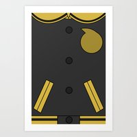 soul eater Art Prints featuring Soul Eater Evans Jacket by Bunny Frost