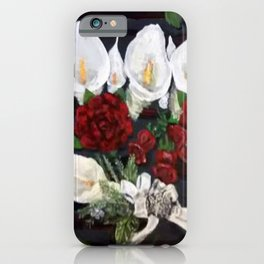 Lillies ad Roses iPhone Case