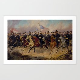 Grant and His Generals Painting Art Print
