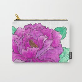 Wild Peony Watercolor Carry-All Pouch