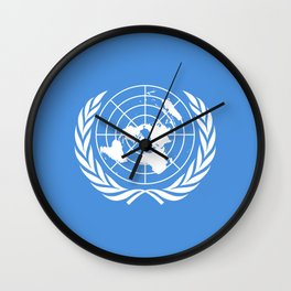 The United Nations Flag - Authentic version Wall Clock