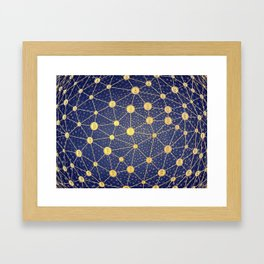 Cryptocurrency mining network Framed Art Print