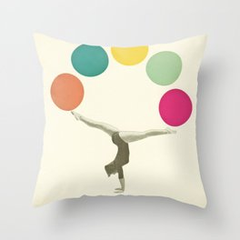 Gymnastics II Throw Pillow