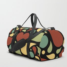 Heart surrounded by drops black pattern Duffle Bag