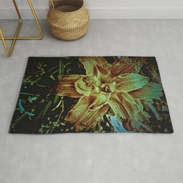 Yellow Lily Art Photography Rug