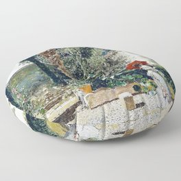Garden Of The House Of Fortuny - Digital Remastered Edition Floor Pillow