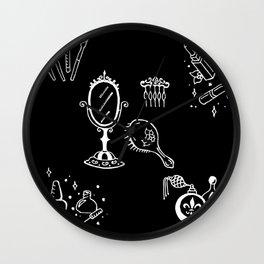 Cosmetics Themed Illustration Wall Clock