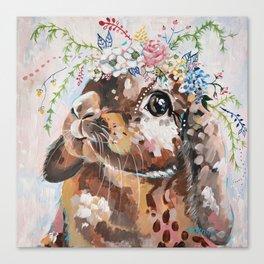 Willa Bunny Canvas Print