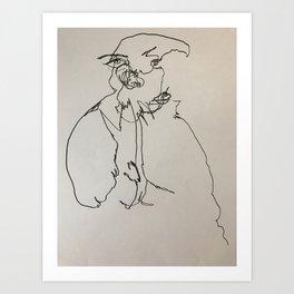 Blind Contour Subject Art Print
