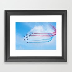 PAF - Patrouille de France - Hyeres637-2010 aircraft aviation  637 Framed Art Print
