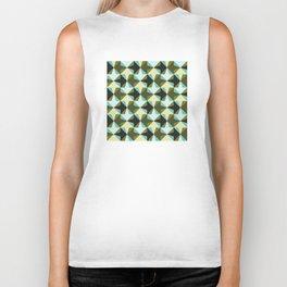 Geometric Pattern #103 (black green arrows) Biker Tank