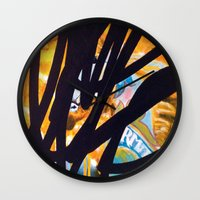 carousel Wall Clocks featuring CAROUSEL by Brandon Neher