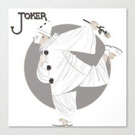 Joker / Pierrot Canvas Print