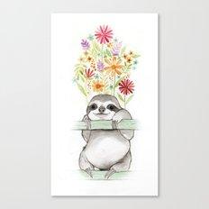 Le Sloth Canvas Print