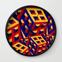 Cubic pattern Wall Clock
