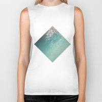 biology Biker Tanks featuring Fresh summer abstract background. Connecting dots, lens flare by AMULET