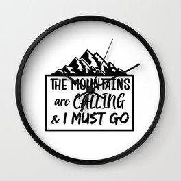 Mountains Mountaineer Hiker Gift Wall Clock