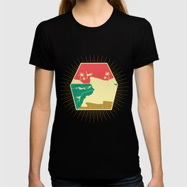 Cliff Jump Retro Island Palms Cliff Diving Gift T-shirt