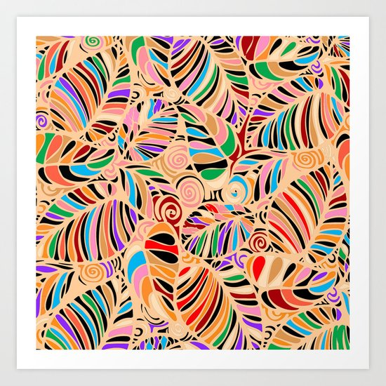 Summer Leaves Colors Art Print