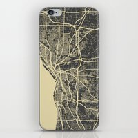 cleveland iPhone & iPod Skins featuring Cleveland map by Map Map Maps