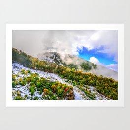 Autumn in Mountains Art Print