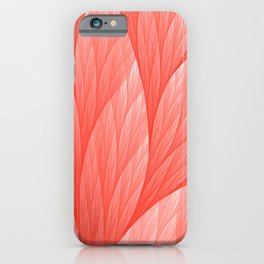 Reef Coral Living Color of the Year 2019 Abstract Pattern Fractal Fine Art iPhone Case