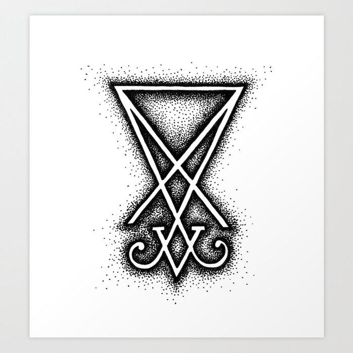 Sigil Of Lucifer Art Print By Herbivoreross Society6