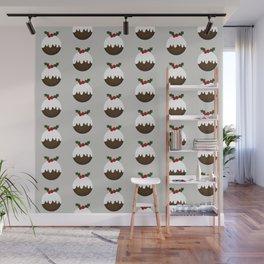Little Christmas Puddings Wall Mural